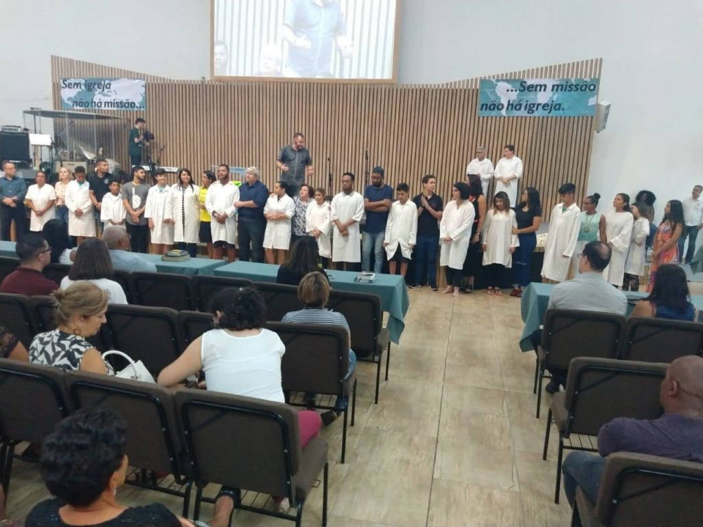 Batismo e recebimento de novos membros - 18/11/2018